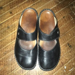 Finn Comfort clog Mary Jane leather slip on shoes